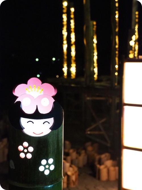 佐布里池梅まつりライトアップ2021